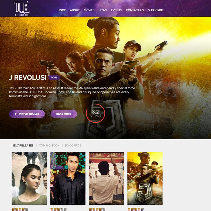 DLUX Entertainment Website Development with a responsive layout. Bringing Malay movies from the region back to our homeland here in #Singapore. DLUX Entertainment #inpixelhaus #webdesign #webdevelopment #website #responsive #dluxentertainment #sgmovies