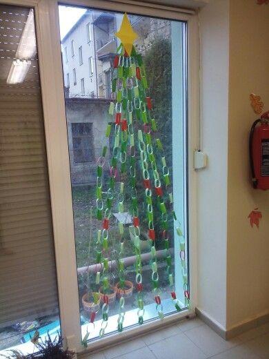 Vánoční stromeček na okno.