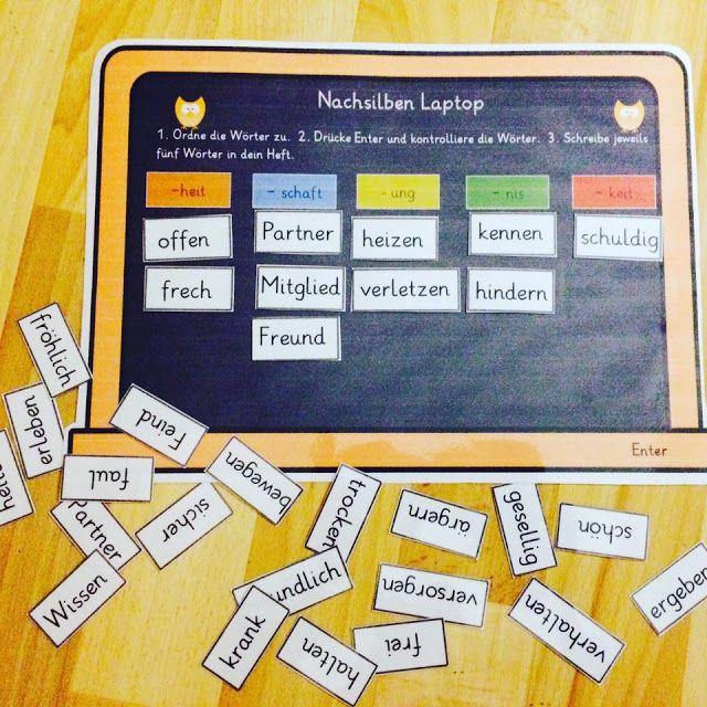 """grundschul_teacher        : Der """"Nachsilben Laptop"""""""