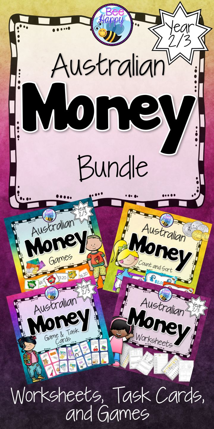 This bundle is made up of four best-selling money resources for Year 2/3. It includes worksheets, task cards and games - 146 pages of goodies!