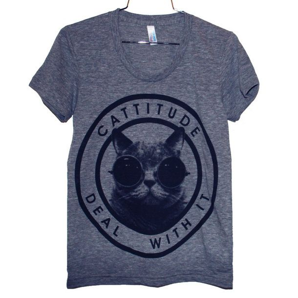 Cattitude Tee Women's Gray