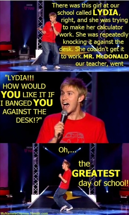 Russell Howard cracks me up