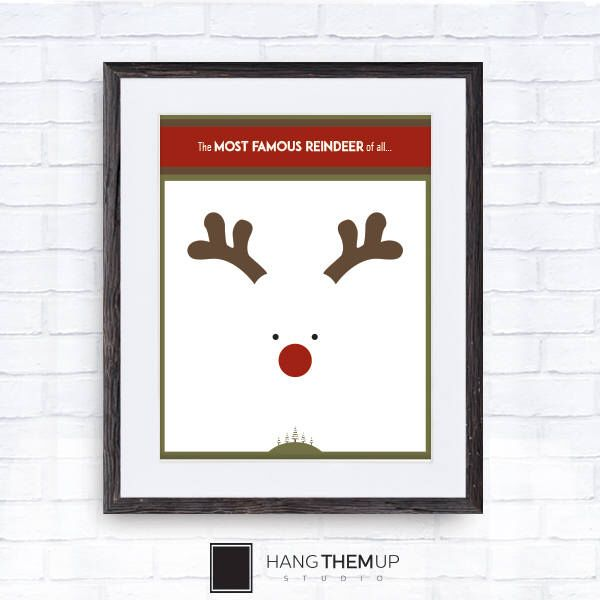 Excited to share the latest addition to my #etsy shop: Rudolph | Red Nose Reindeer | Christmas Wall Art | Christmas Gifts | Christmas Wall Art | Christmas Signs | Posters | Christmas Decoration