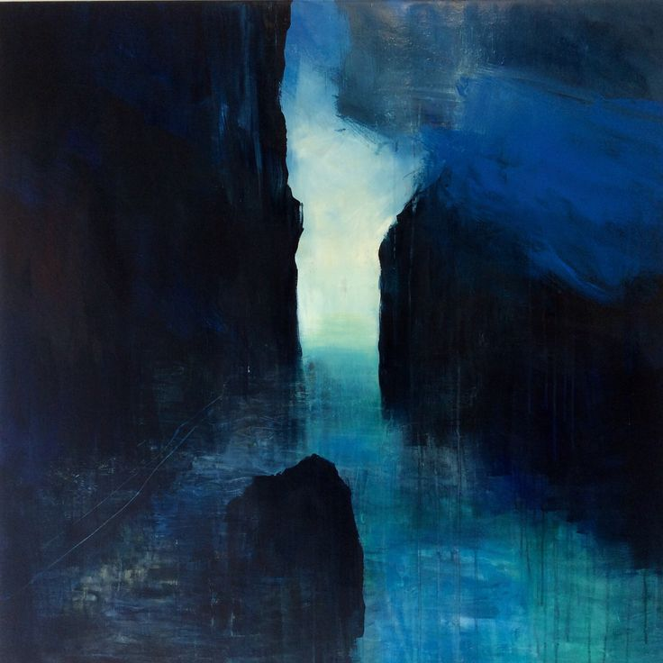 """ Memories from Troms "" Acrylic on canvas, 100 x 100 cm, Bjørnar Aaslund, 2015"