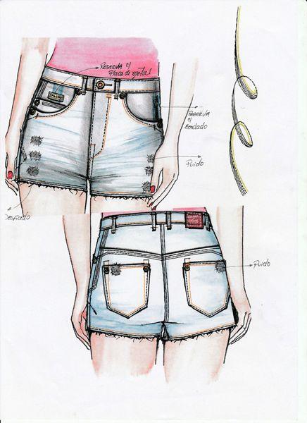 Croquis - Shorts - Verão 2017