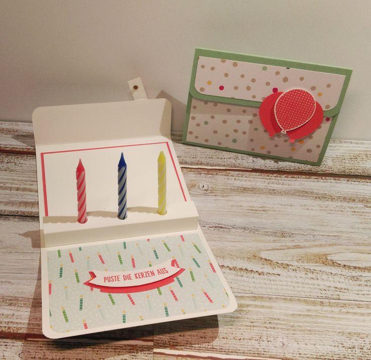 Anleitung: Geburtstags-Kerzen-Kärtchen