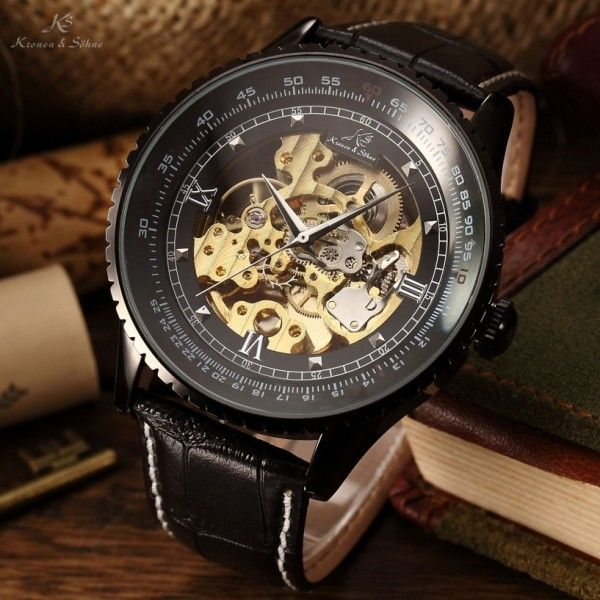 Men's Watches - Brand new KRONEN & SOHNE **Royal Carving** Ionized Skeleton Automatic Mechanical Leather Watch for sale in Johannesburg (ID:247122678)