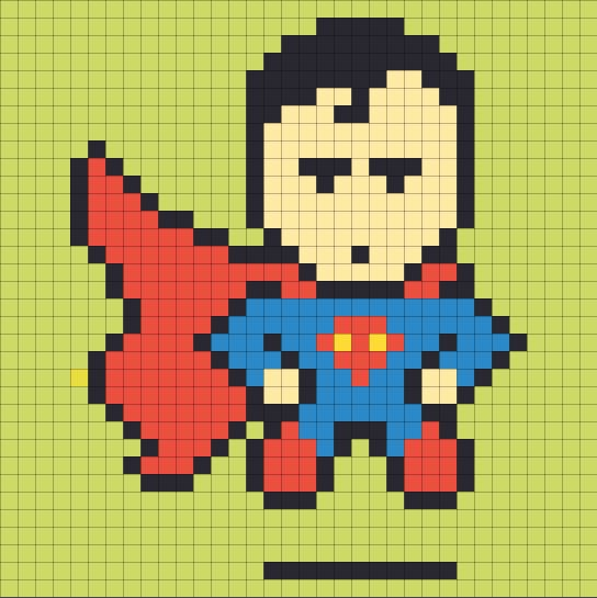 Superman Mock Up   A Man Creates An Epic Superhero Post It Note Mural At Work