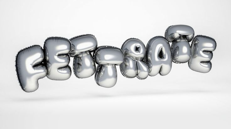 """3d type, 3d-typo, lettering, typography, balloons, balloon type. 3D-headline for german mobile phone company Base - """"Steckt voller Möglichkeiten"""" by FOREAL™ design studio, 3D-Type, 3D Type, 3D-typo"""