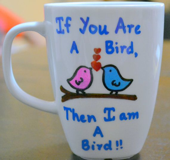 Love Birds On A Tree Coffee Mug Romantic Quote Gift The Notebook Movie Inspired Cup 10 Oz