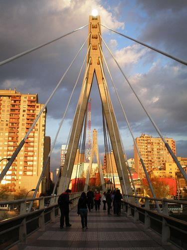 Huerfanos Street Bridge in Santiago, Chile