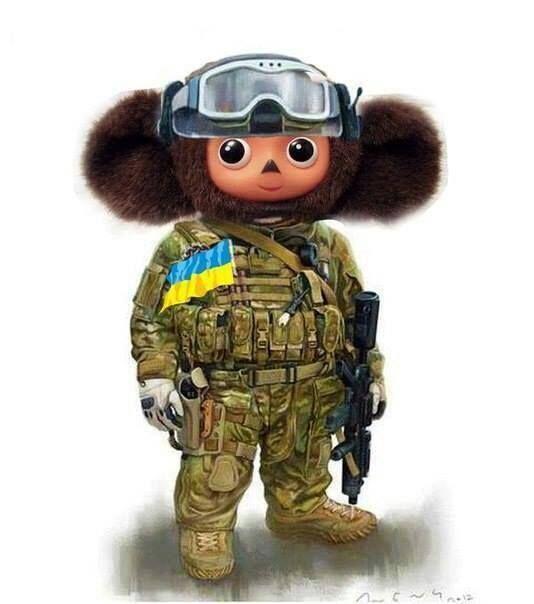 Картинка чебурашка в военной форме