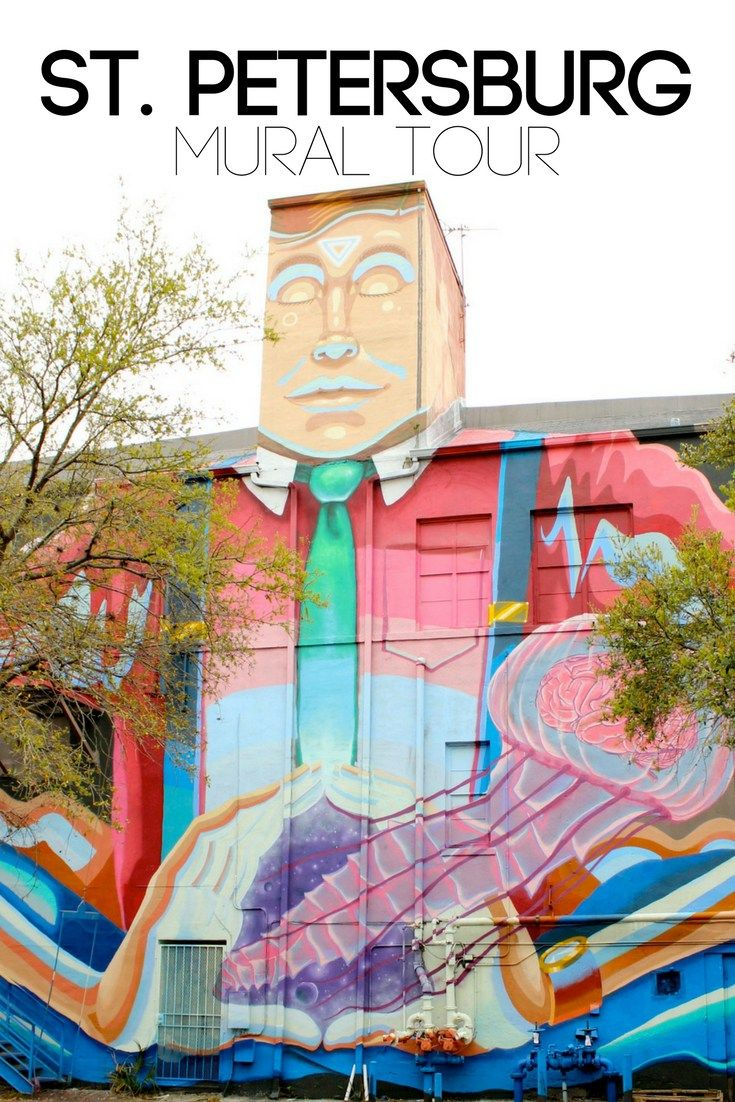 St. Petersburg, Florida is bursting with colorful urban art. don't miss it!