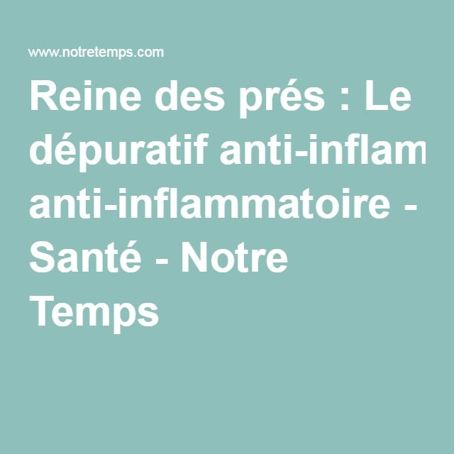 Reine des prés : Le dépuratif anti-inflammatoire - Santé - Notre Temps