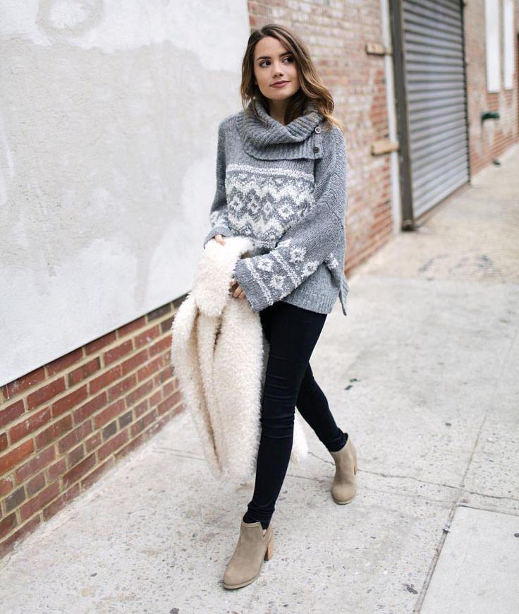 Tess Christine on Instagram u201cComfy sweaters skinny jeans and booties-my uniform ...