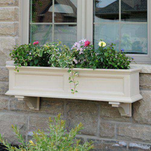 Mayne 48-Inch Rectangle Polyethylene Fairfield Window Box