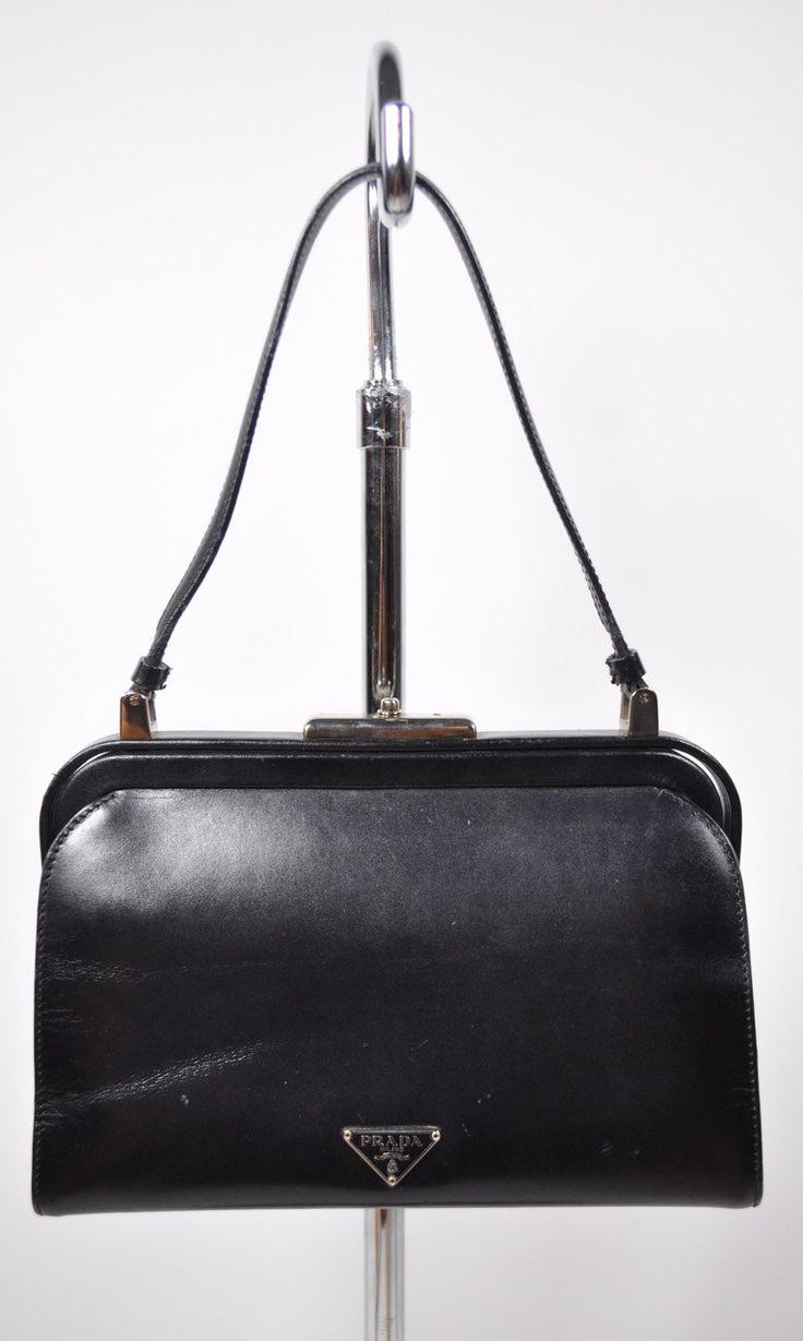 prada berlino leather handle bag