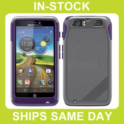 Otterbox Commuter AT Motorola Atrix HD Case Cover with Screen Protector - Orchid / Gray / Purple