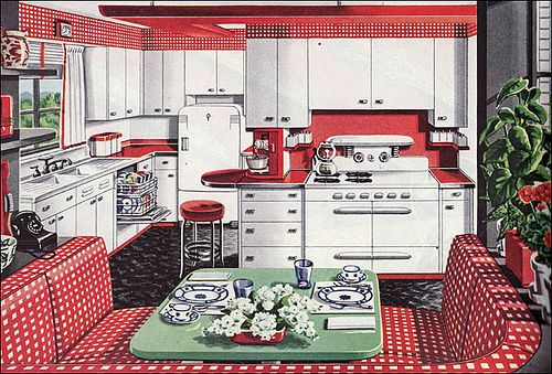 1946 American Gas Assn - Alcove Kitchen by American Vintage Home, via Flickr