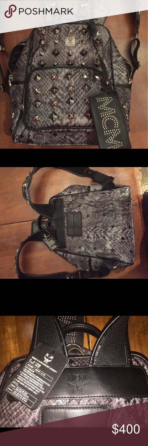 MCM small size bag Unisex bookbag good condition $400 OBO MCM Bags Backpacks
