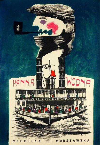 Roman Cieslewicz, The Water Maiden, 1962
