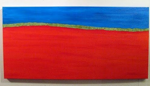 Red Horizon with Green