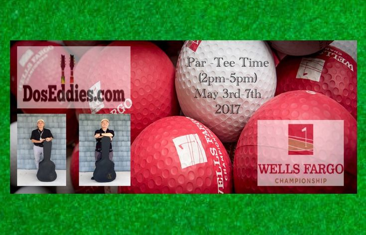 We will be playing 2-5 at the Tito's Handmade Tee-ki Bar in front of clubhouse. www.pgatour.com/tournaments/wells-fargo-championship.html www.WellsFargoChampionship.com www.DosEddies.com https://www.facebook.com/events/1379457822134647/ wellsfargochampionship #pga #golf #doseddies #acosuticshow #liveentertainment