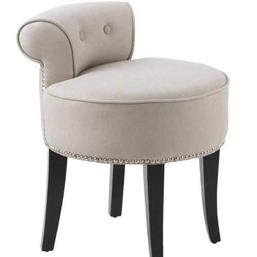 Petit fauteuil crapaud en Lin Beige Zenna