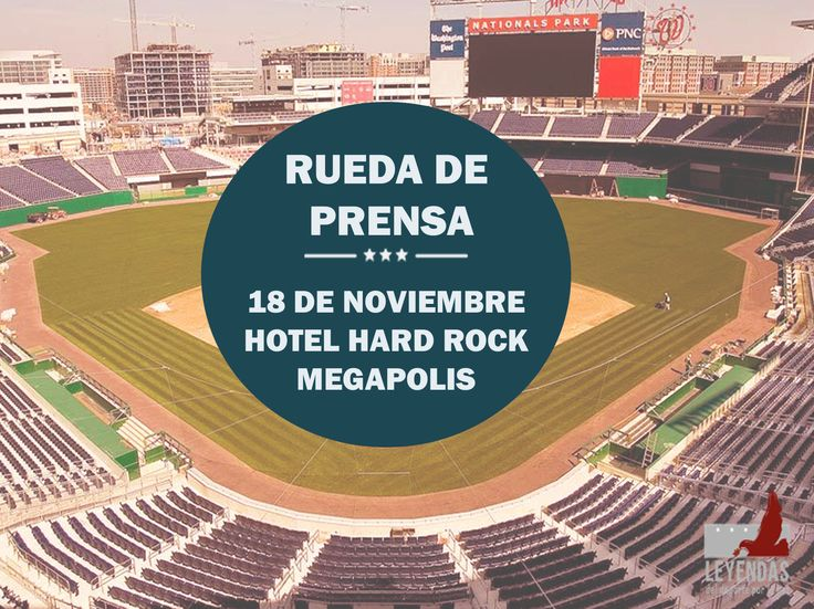 Nuestra tercera rueda de prensa ya tiene fecha y lugar! #LeyendasDePaz #baseball #hardrockhotel