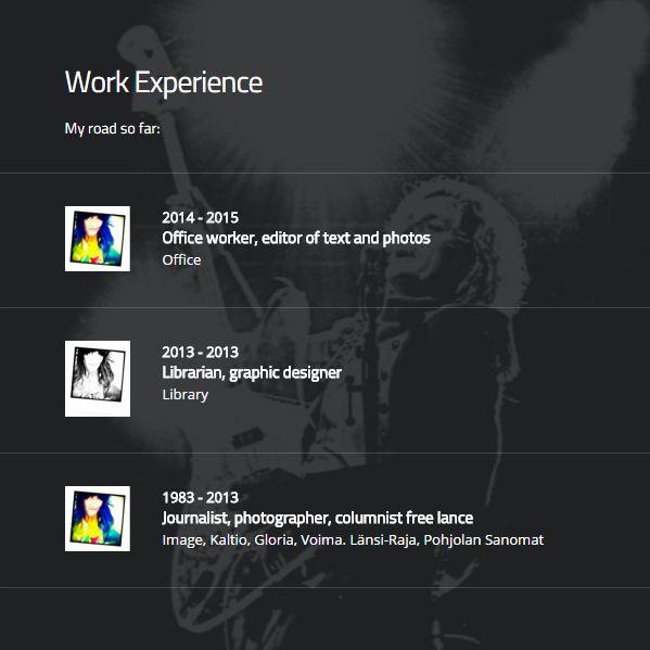 Satu Ylävaara Portfolio : Vizualize.me & Branded.me -sivuilla olevat työkokemukseni