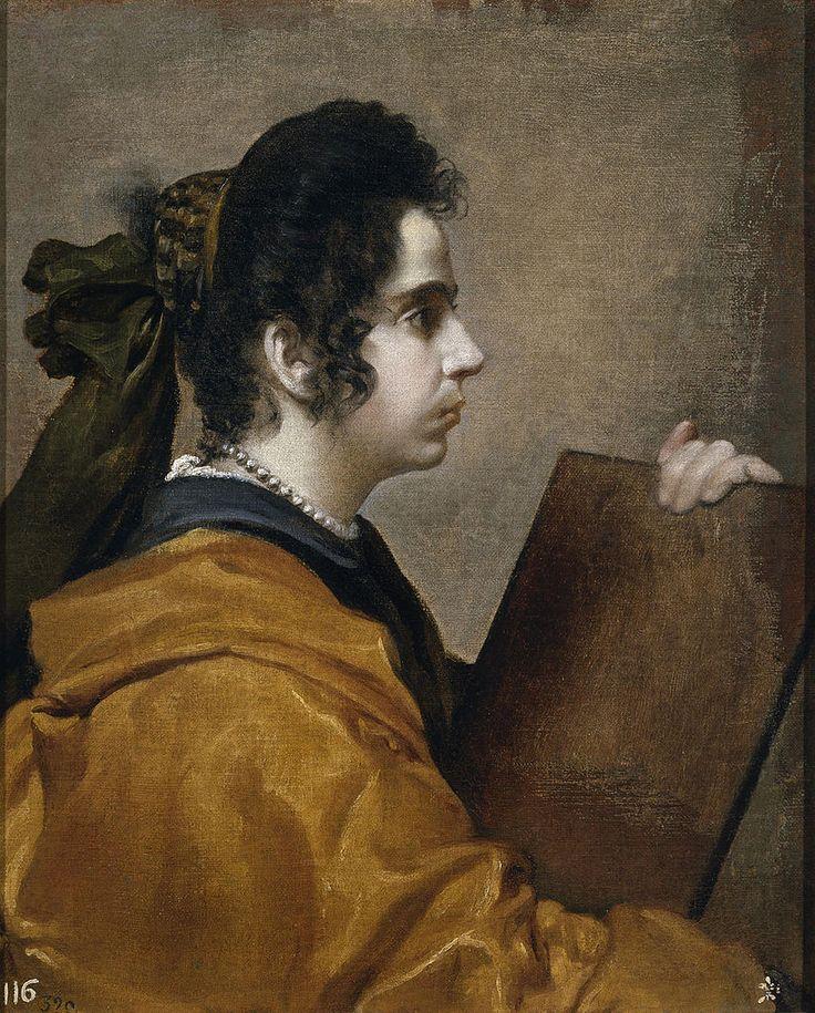 Diego Rodríguez de Silva y Velázquez (1599 -1660) —   Portrait  of Lady,  c.1610 : The Museo del Prado, Madrid, Spain  (823×1024)