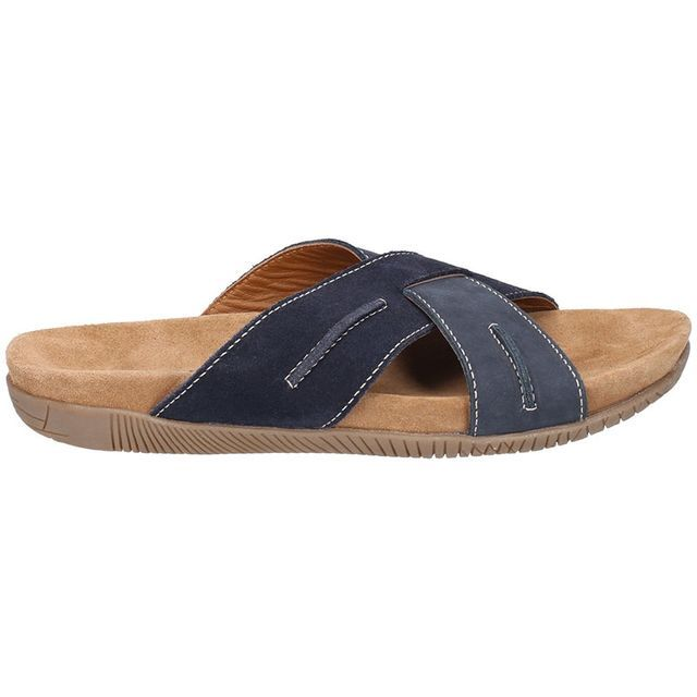 Hush Puppies Gizmo Navy Mule Men Sandals Comfortable Footwear
