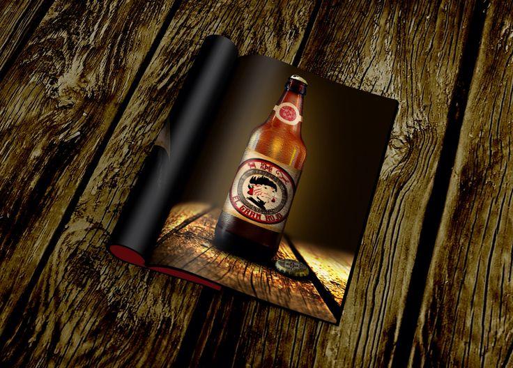 El gran rojo, diseño y campaña publicitaria de cerveza ficticia para materia de publicidad y propaganda