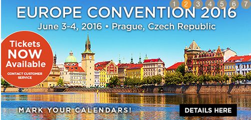 June 3 & 4 June 2016   Europea Convention Prague You can join if you want :)