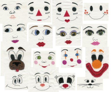 Free Embroidery Doll Face Design - Free Embroidery Patterns