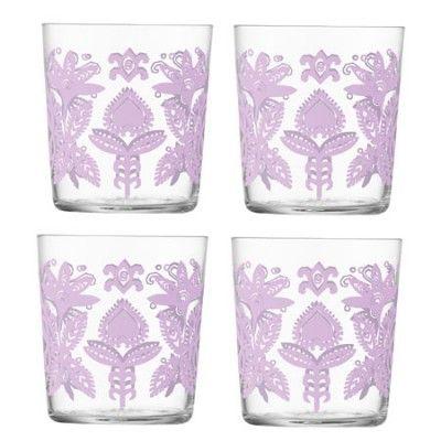 LSA Ania Tumbler Set of 4 - Clear / Pink #podpastels