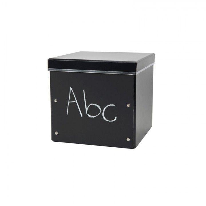 FÖRVARINGSBOX PAPP ELLEN GRIFFEL SVART 28X28X27CM - Förvaringsboxar papp - Förvaring - Inredning & Förvaring
