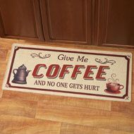 Give Me Coffee Novelty Rug - 38481