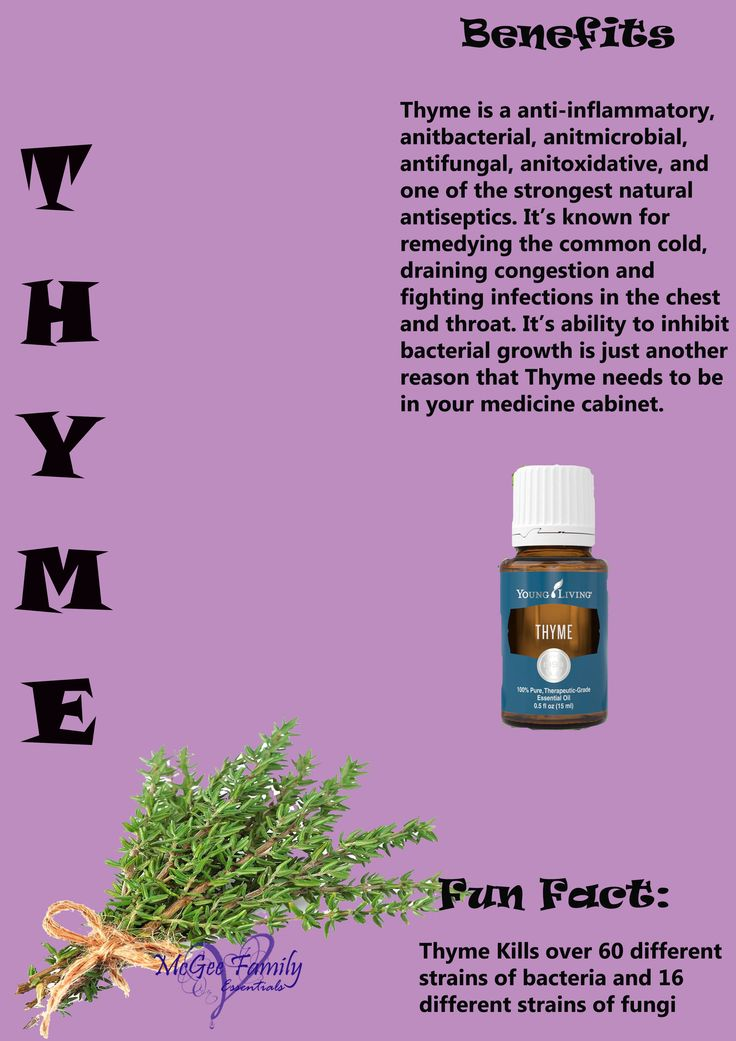 Thyme essential oil is a must for your medicine cabinet as well as for skin care, tooth and gum health, hormonal balance, and can even be used as a bug repellent