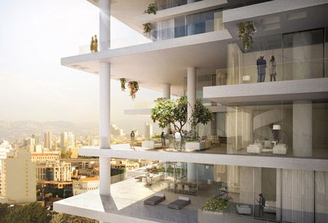 Hope this ends up as cool as their design...Beirut Terraces by Herzog & de Meuron