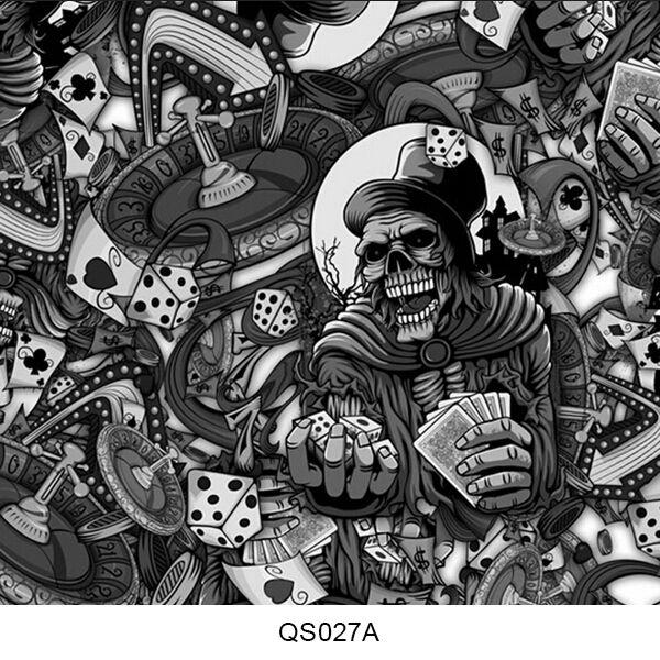 Hydrographics film skull pattern QS027A