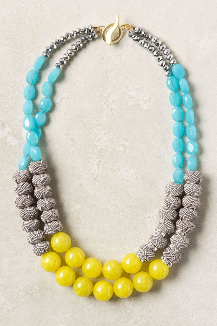 Anthropologie: Diy'S Necklaces, Anthropology, Statement Necklaces, Congeri Necklaces, Beads Necklaces, Color Combos, Summer Color, Color Combinations, Jewelry