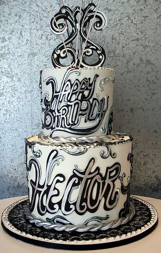 white hand-painted cakes | ... cake with decoration in fondant white chocolate with hand painted