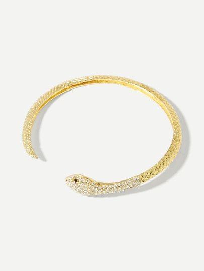 2bfb3b440a Snake Design Cuff Bracelet -SheIn(Sheinside) | Jewelry in 2019 ...