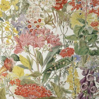 Crazy Flowers fabric - multi - (scandinaviandesign)
