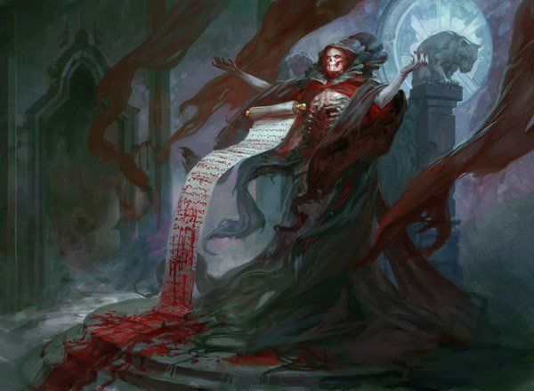 Blood Scrivener - 30 Mind Blowing Fantasy Artworks http://www.cuded.com/2014/01/30-mind-blowing-fantasy-artworks/  (Not all of these are horror, but they are all still absolutely fantastic)