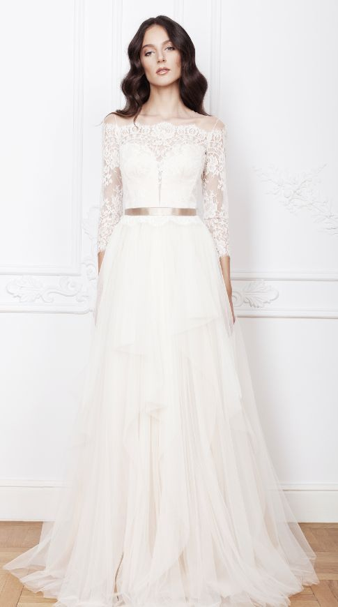 Featured Dress: Divine Atelier; Wedding dress idea.