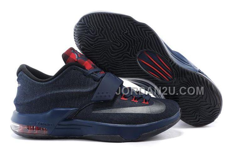 "http://www.jordan2u.com/cheap-nike-kd-7-jeans-blacknavy-blue-for-sale.html Only$102.00 CHEAP #NIKE KD 7 ""JEANS"" BLACK/NAVY BLUE FOR SALE #Free #Shipping!"