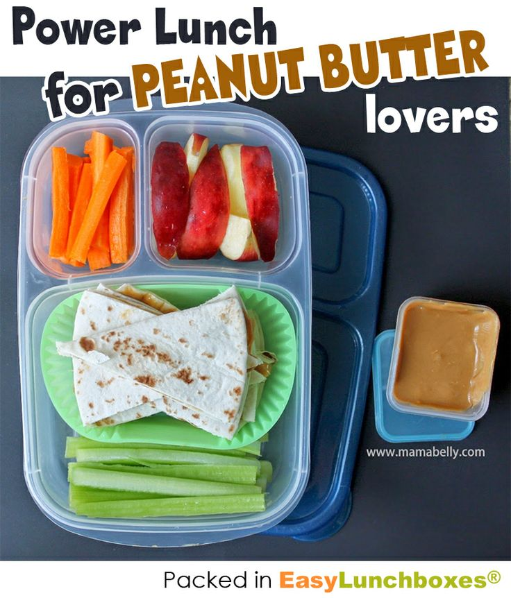 Do you love Peanut Butter or nut butter? Then this lunch box idea is for you!