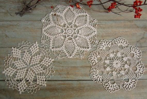 Vintage Snowflake Doilies